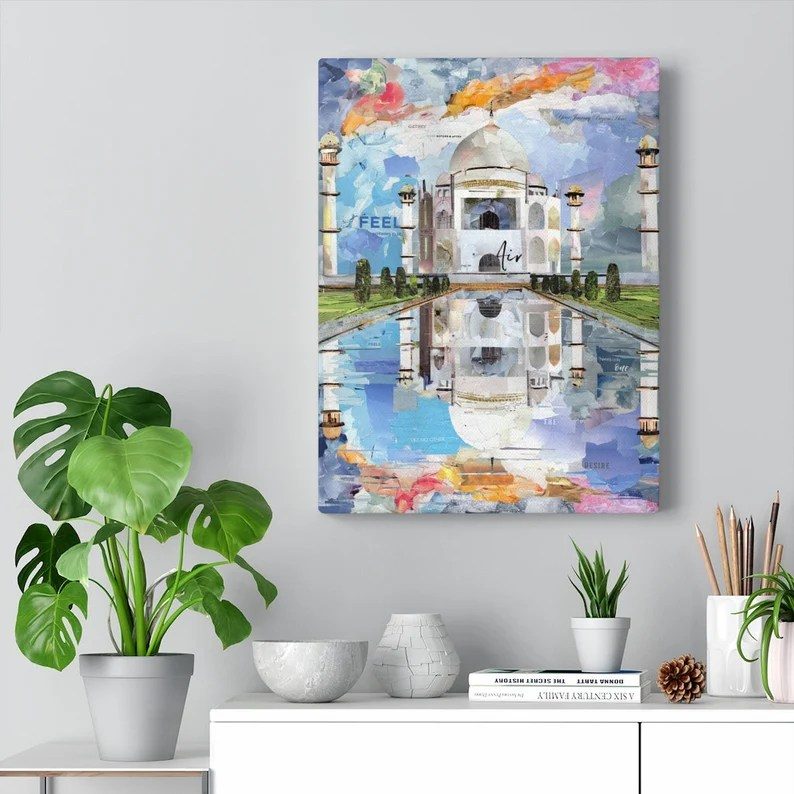 Taj Mahal India Quality Canvas Wall Art Print Ready to Hang image 3