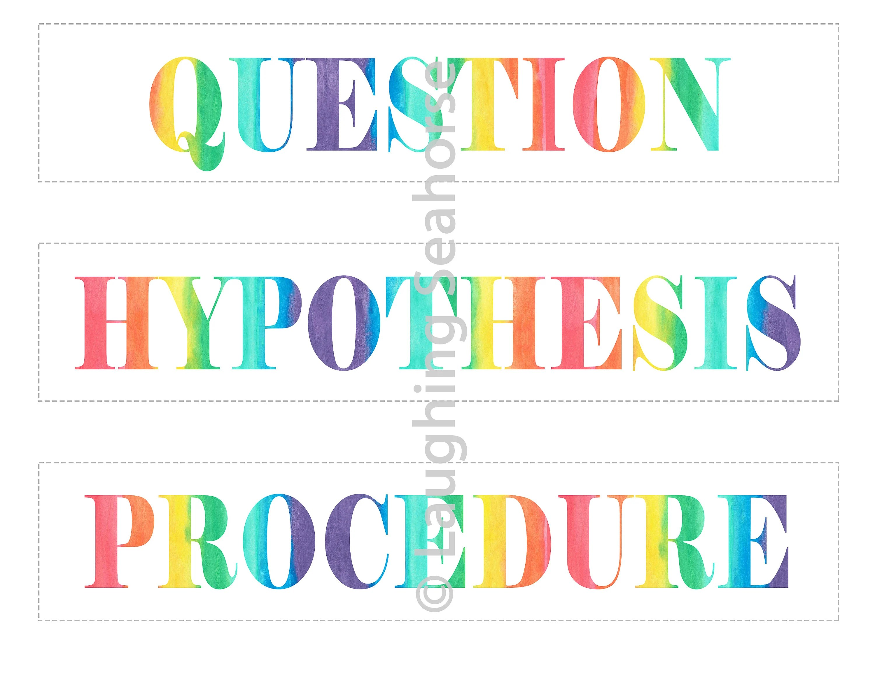 Printable Rainbow Science Project Labels