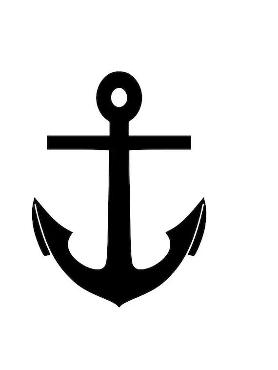 Download Boat anchor outline SVG Digital Download Cuttable Files ...