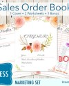 Flower Small Business Forms Branding Kit Package Order Etsy