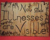 Not all illnesses are visible sign, Lichtenberged - large