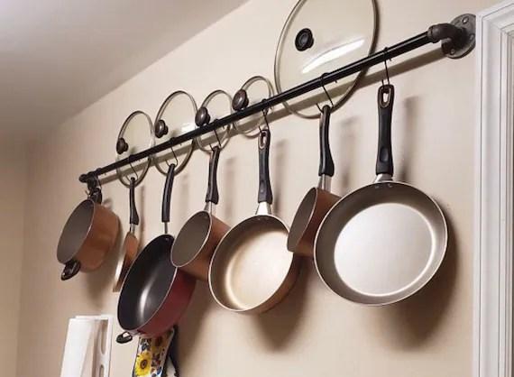 pots de cuisine et casseroles rangement mural suspendu rack suspendu porte cuisine