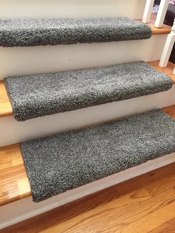 Dazzling Magma Grey Gray Plush Sh*G True Bullnose™ Padded Etsy | Grey Carpet Treads For Stairs | Wool Carpet | Indoor Outdoor | Skid Resistant | Custom Stair | Rugs