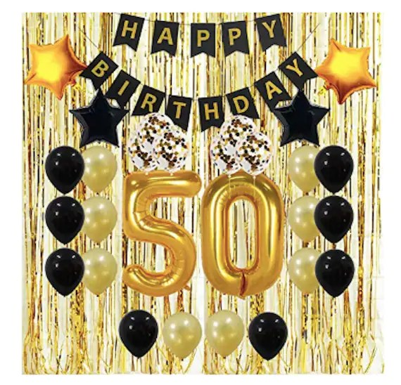 50th Party Decorations 50th Birthday Decorations Gifts For Men Etsy