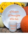 Fall Scene White Plate And White Coffee Cup Mockup Instant Etsy