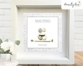 Pebble Art MAKING MEMORIES Gift. Personalised Picture Handmade and Framed to Order. Sea Glass • Birthday • Valentine • Friends • 2 sizes