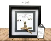 CAT Pebble Art Personalised Gift - A home is not a home without. Handmade to order • Sea Glass • Various Options • Birthday Friend