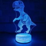 T Rex Dinosaur 3d Night Light Multi Color Changing Illusion Etsy