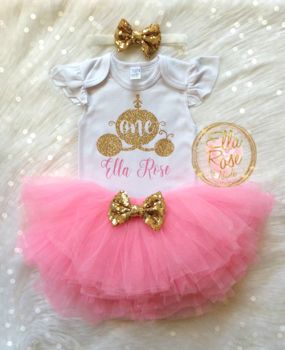 My 1st Birthday Outfit Girl First Birthday Princess Outfit Etsy