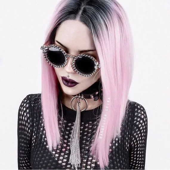 Studded round glasses