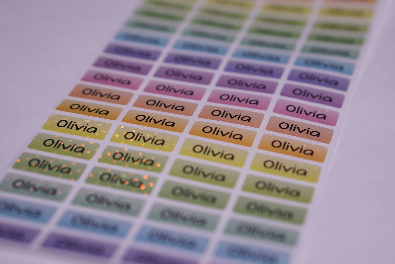 Waterproof Glittery Name Labels Name Stickers personalized image 3