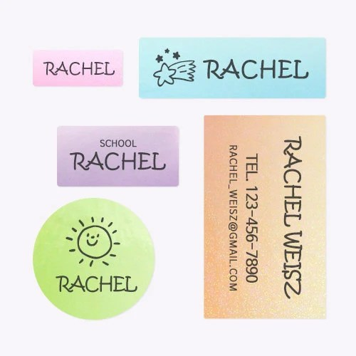 Waterproof Glittery Name Labels Name Stickers personalized image 4