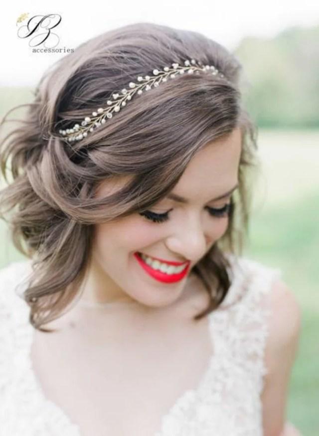 thin wedding hair vine bridal hair vine crystal pearl beads hair vine bridal headpiece hair piece long hair vine bridal headband pearl tiara