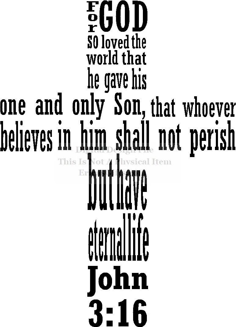 Download For God So Loved The World John 3:16 Cross Verse Design ...