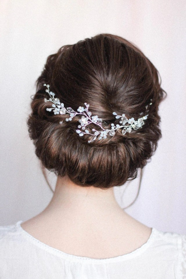 wedding hair vine bridal hair band wedding floral hair comb bridal headband bridal headdress crystal decorated baby glass wedding hair vine