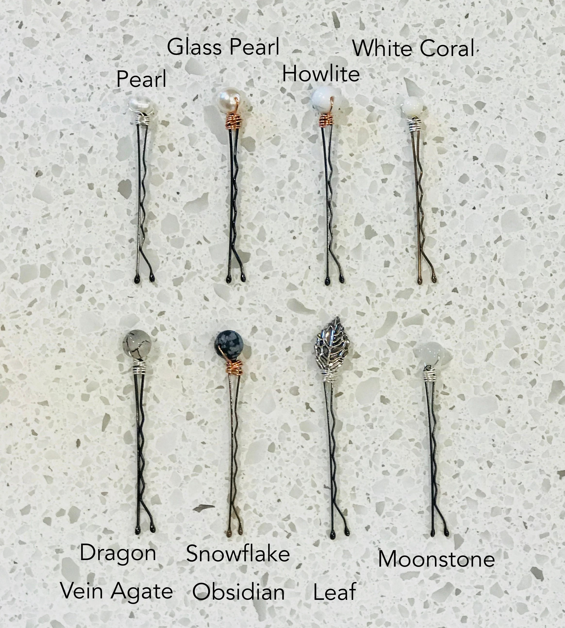 Semi Precious Hair Pins