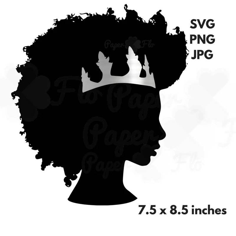 Download afro svg silver crown clipart black woman svg black girl ...