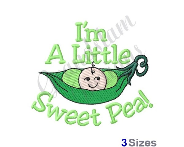sweet pea embroidery # 80