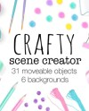Crafty Scene Creator Moveable Mockup Arts And Crafts Props Etsy