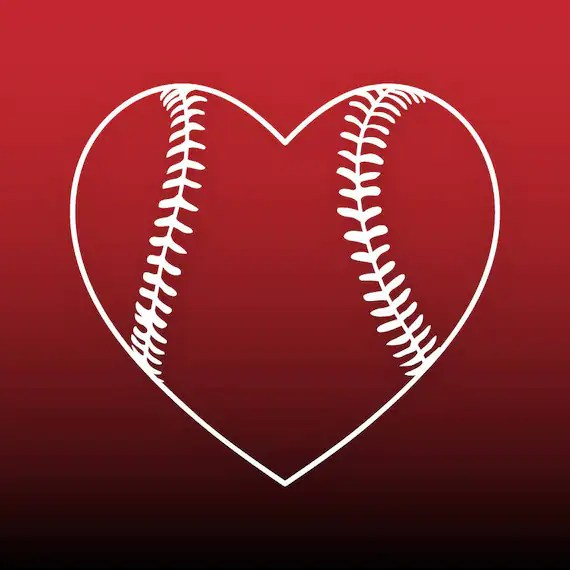 Download Baseball heart svg Baseball svg files Baseball cut file ...