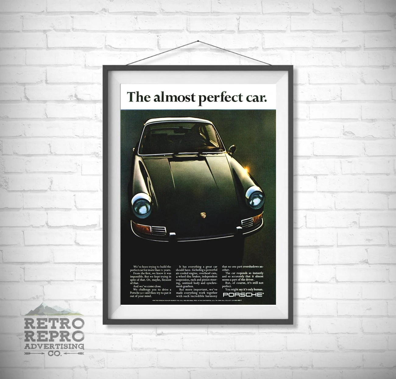 jahrgang 911 turbo klassische alte original anzeige anzeige nostalgie retro geschenk posterdruck