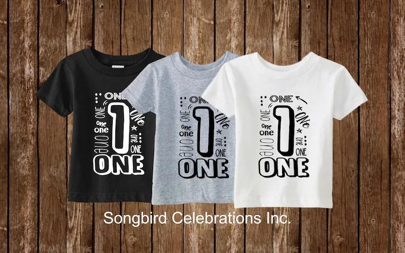First Birthday Boy Shirt 1st Birthday Boy Shirt One Word 1 Shirt 1st Birthday Outfit Boy First Birthday Party Superhero Birthday Dinosaur Boys Clothing Clothing