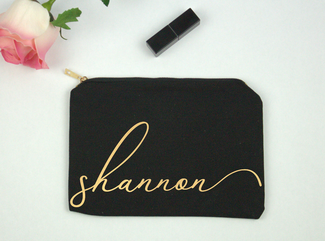 Personalized Makeup Bag Cosmetic Bag Gift for Her Gift for image 6