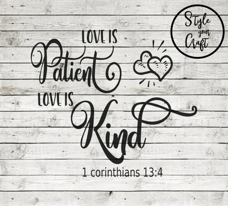 Download Love is Patient Love is kind svg home decor svg wood sign ...