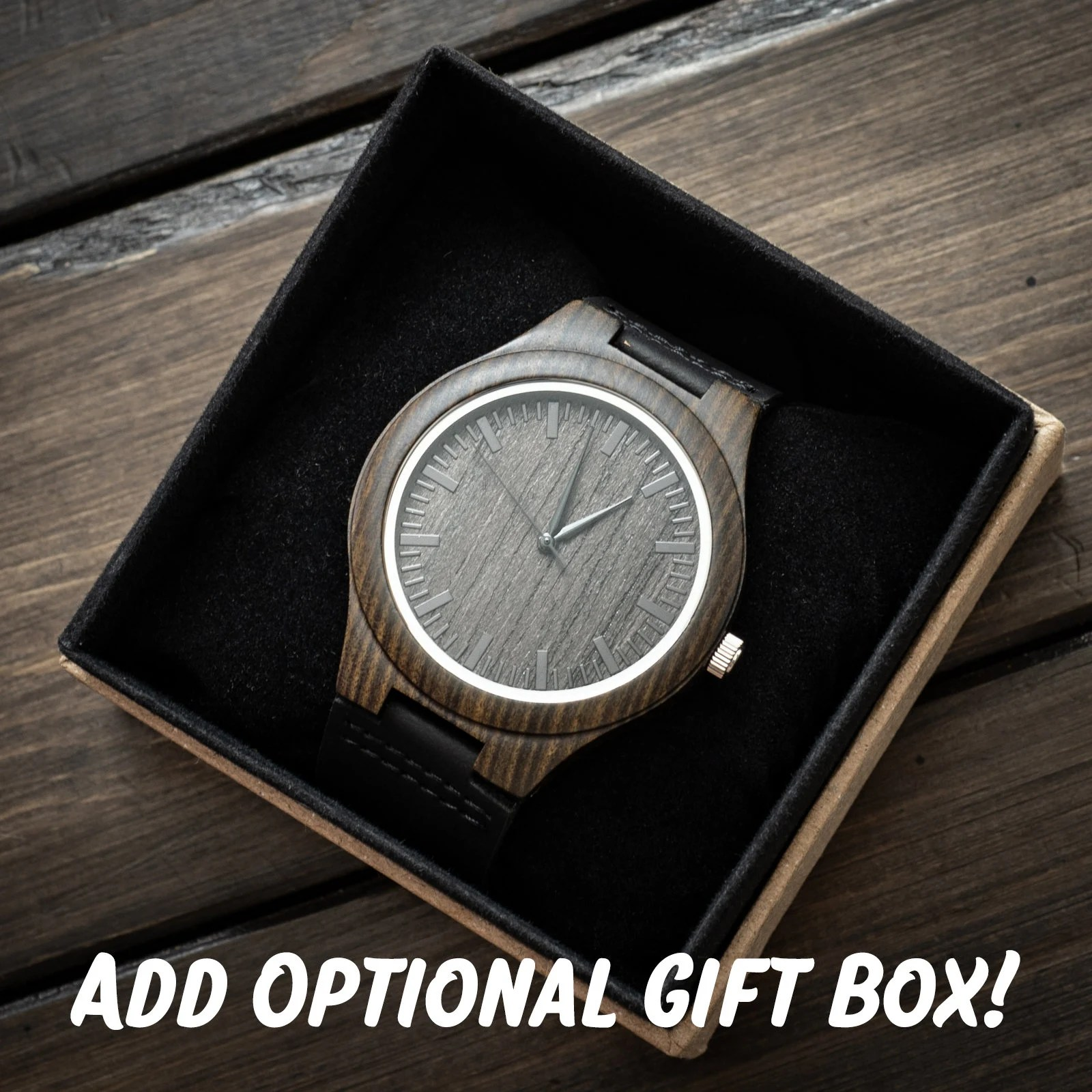 Engraved Wooden Watch for Men Anniversary Gifts for Boyfriend image 7