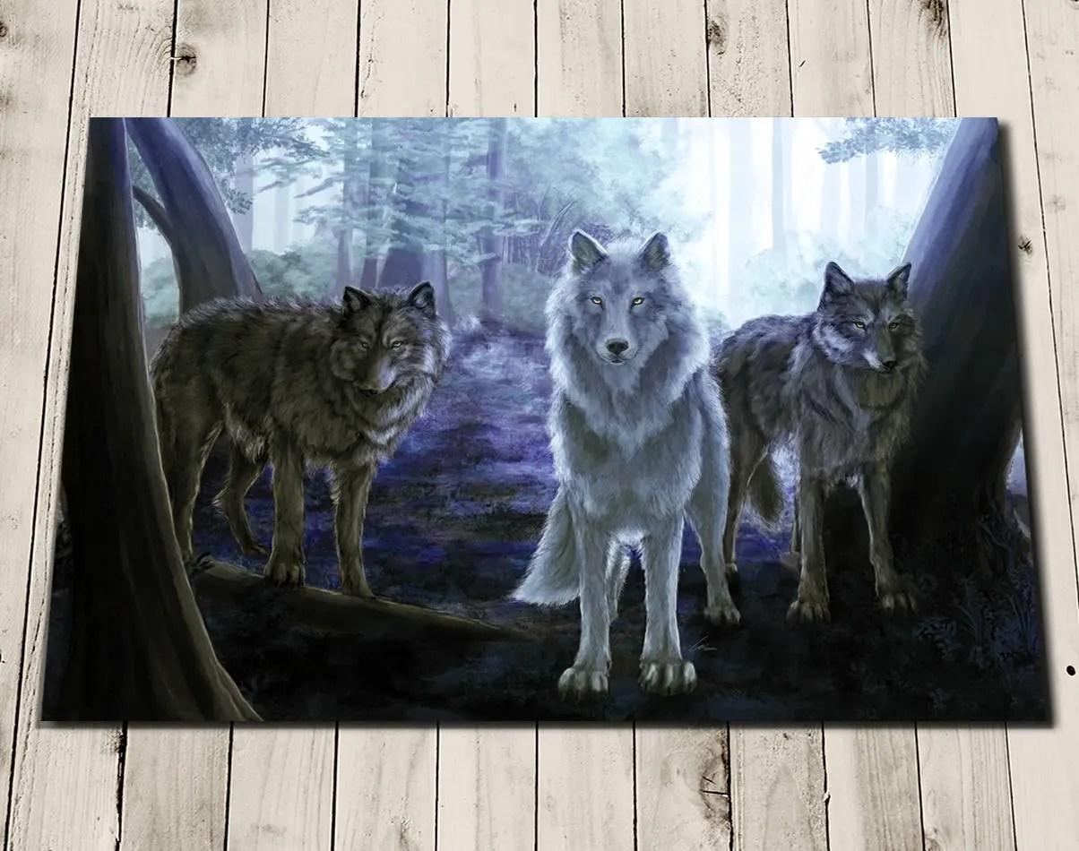 Wolf Art Painting Wolf Print Wolf Wall Art Wolf Home