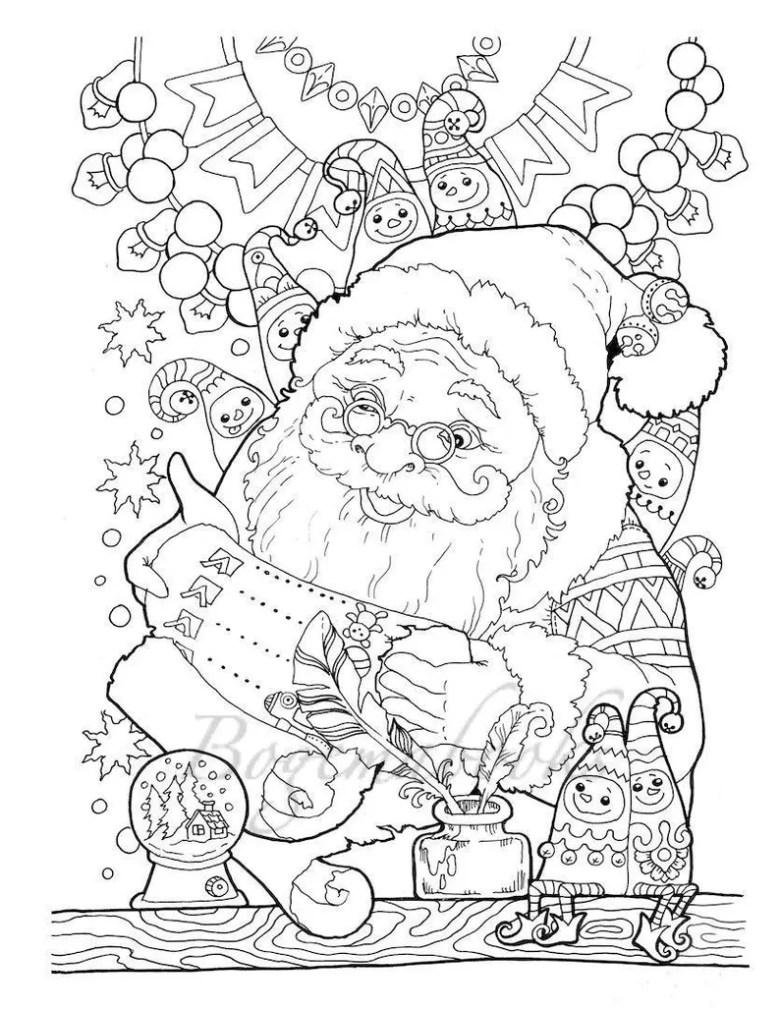nice little town christmas adult coloring book printable | etsy