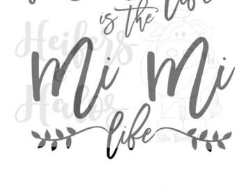 Download Mimi life svg   Etsy