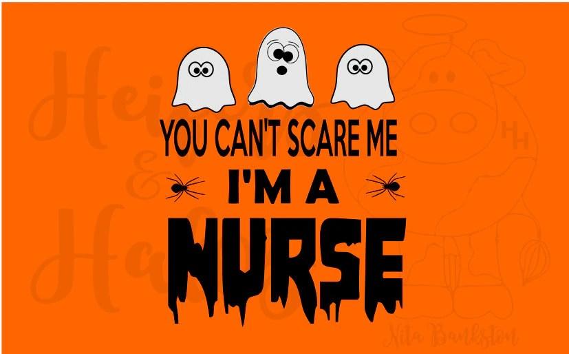 Download You can't scare me I'm a Nurse svg studio3 cut file | Etsy