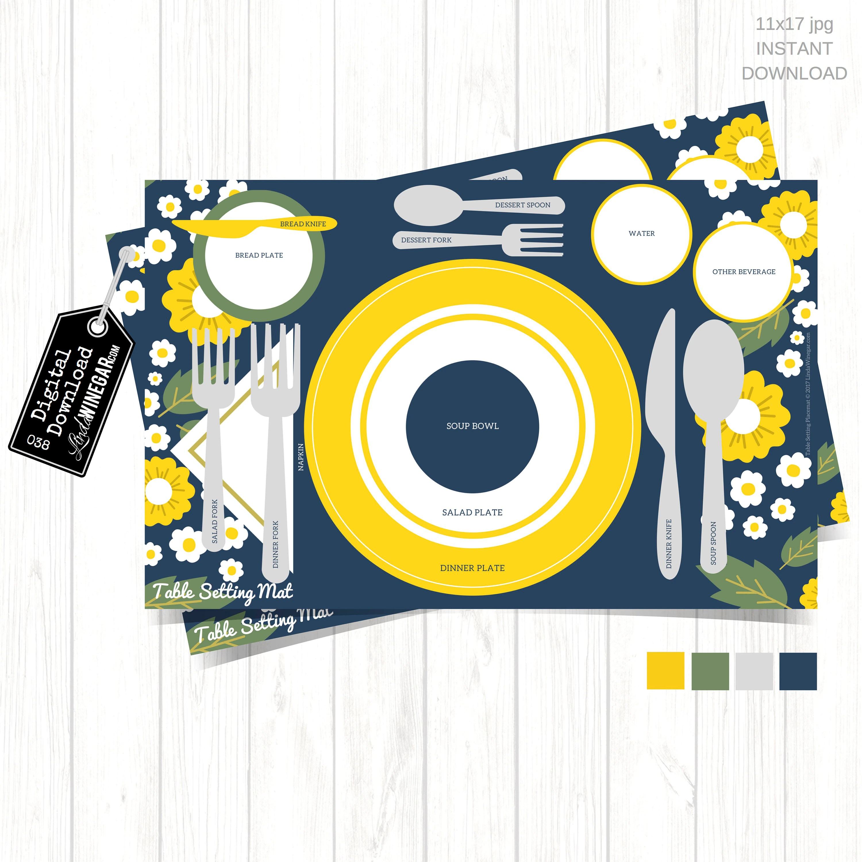 Etiquette Placemat For Kids Table Setting Diagram For