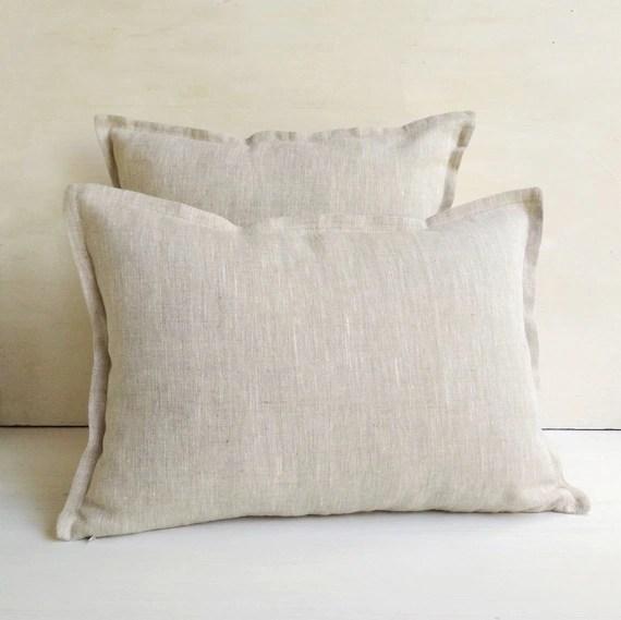 natural flax linen 26x26 euro pillow
