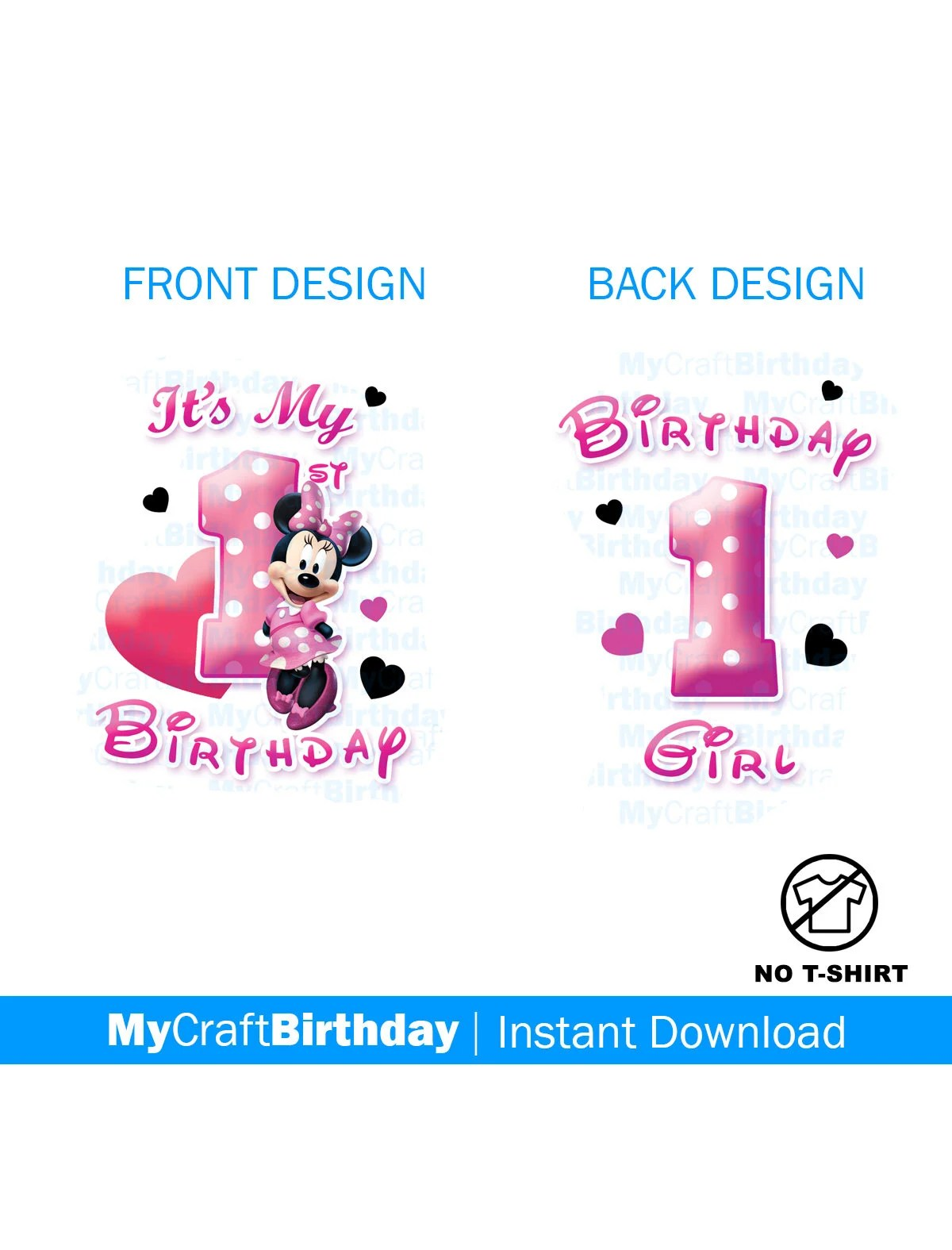 Minnie Mouse 1st Birthday Shirt Design Girl My 1st Etsy