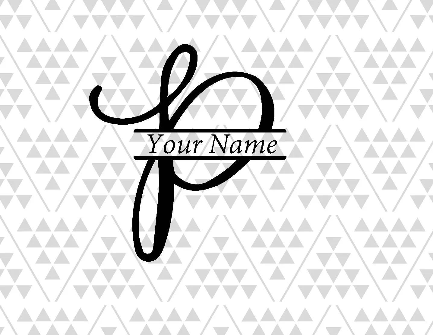 Monogram Letter P Split Letter P Split Letter Svg Vine