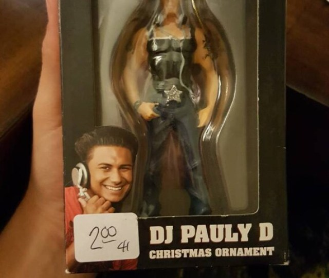 Ultra Rare Dj Pauly D Christmas Ornament Jersey Shore