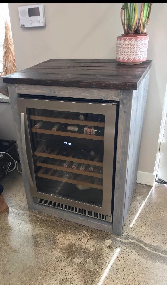 mini fridge table etsy