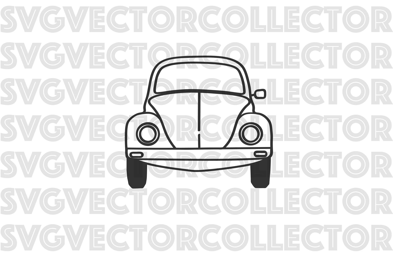 Volkswagen Beetle Vw Bug Front Svg Dxf Eps Clip Art