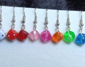 Mini Dice Bead Earrings *New Colors*