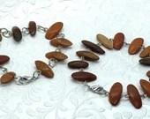 Wood Chip Beaded Bracelet