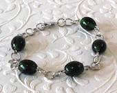 Green Black Beaded Bracel...