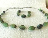 Emerald Jewelry Set, Gree...