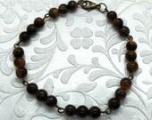 Brown Cat Eye Bracelet