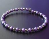 Purple and Silver Bracele...