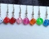Mini Dice Bead Earrings *New Colors*
