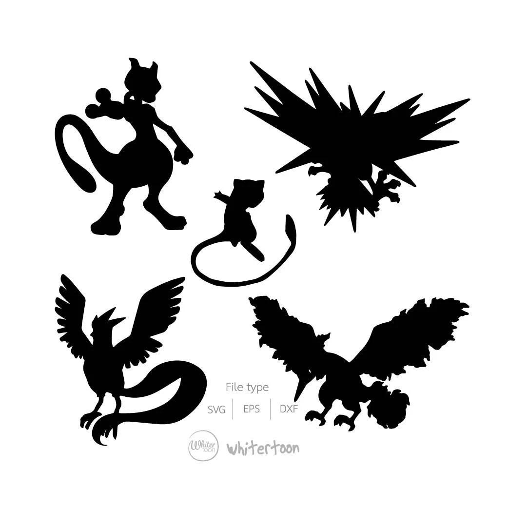 Pokemon Legendary Clipart Vector Graphicsdigital Images
