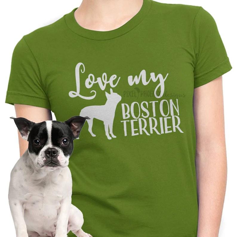 Download Love my Boston Terrier Boston Terrier SVG svg for Cricut ...