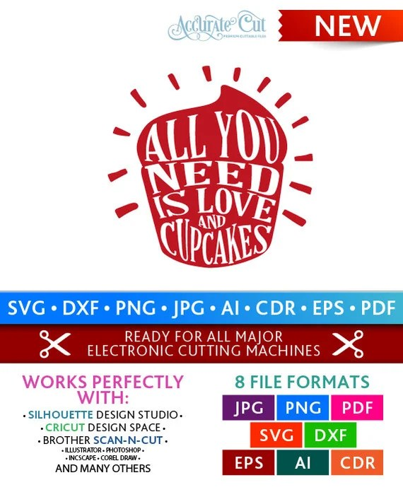 Download Love and Cupcakes Svg All You Need is Love and Cupcakes ...
